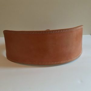 Leather weight lifting belt. Made in Pakistan. XL